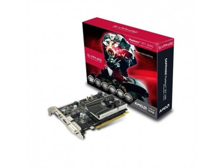 Sapphire AMD Radeon R7 240 1GB DDR5 DVI HDMI VGA 128bit 11216-01-20G