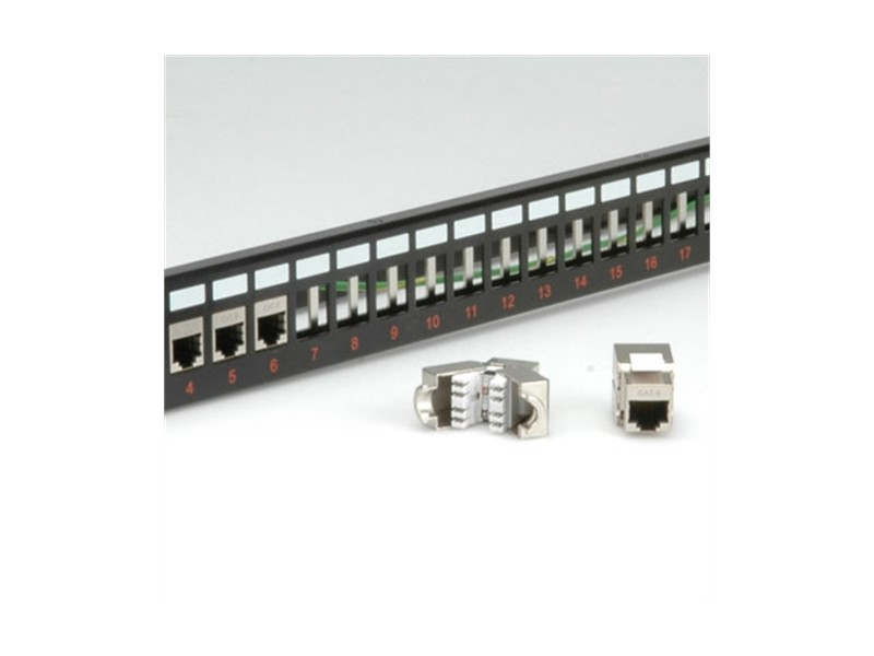 Secomp Keystone 19`` Module frame Cat5/Cat6/Cat6a 24Ports shielded black bez modula