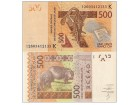 Senegal 500 francs CFA 2012. UNC
