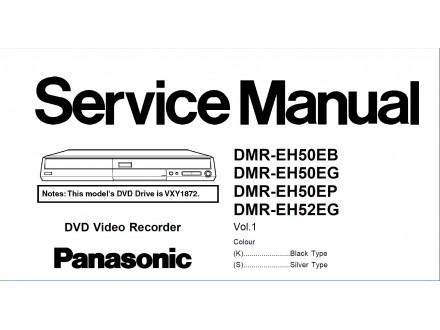Servisno uputsvo za Panasonik DVD video laser rekordere