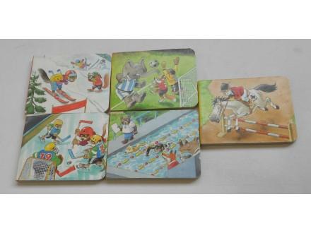 Set od 5 mini slikovnica sa sportskom tematikom