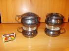 Set od dve čaše za čaj, francuske, posrebrene