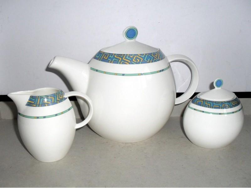 Set za čaj - ZEPTER, Koštani Porcelan + Veliki Tanjir