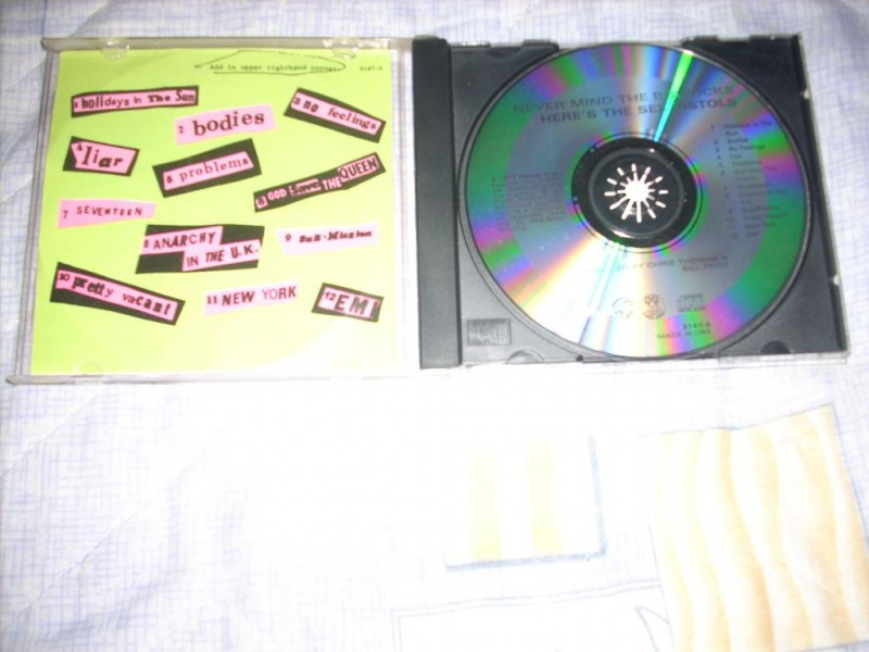 Sex Pistols-Never Mind The Bollocks... CD