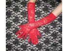 Sexy crvene cipkaste rukavice