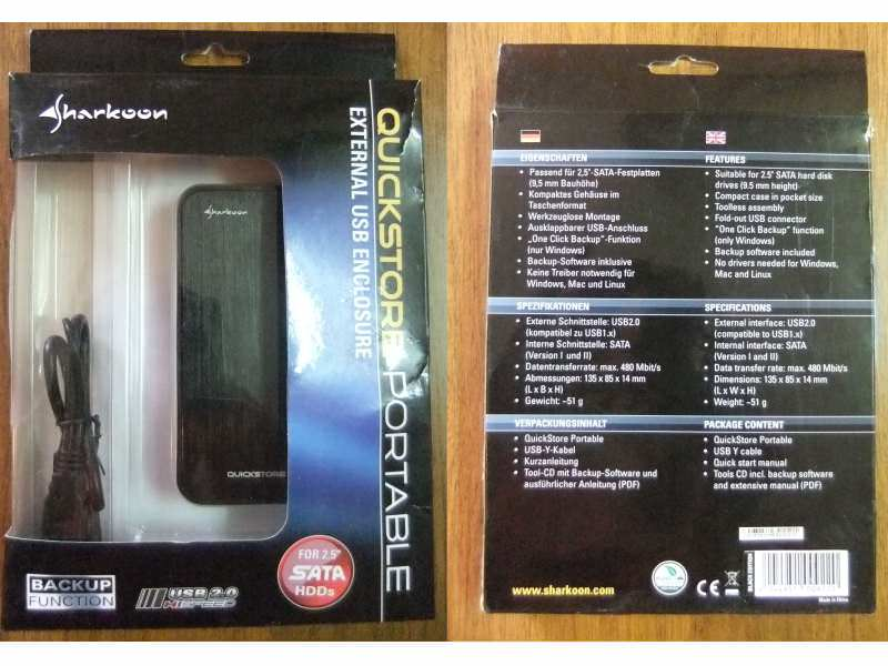 Sharkoon Quickstore Portable SATA 2.5 + GARANCIJA!