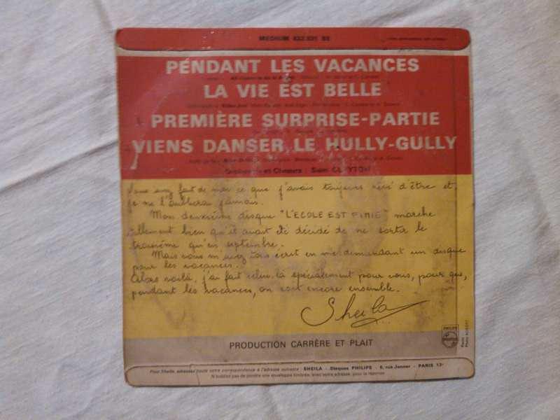 Sheila (5) - Pendant Les Vacances / La Vie Est Belle / Première Surprise-Partie / Viens Danser Le Hully-Gully