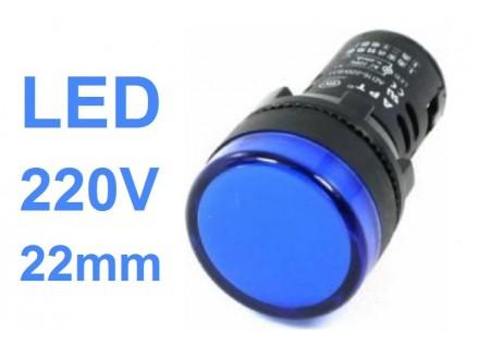 Signalna LED sijalica - 220V - Plava - 22mm