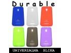 Silikonska futrola DURABLE za Nokia 2 bela (MS)