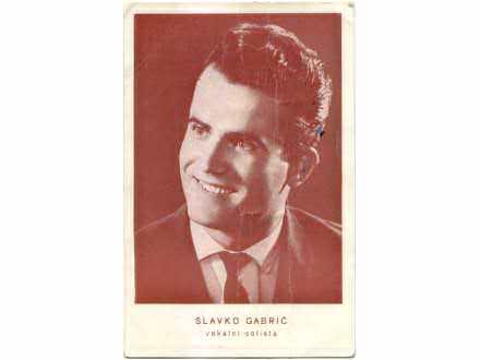 Slavko Gabrić - autogram karta