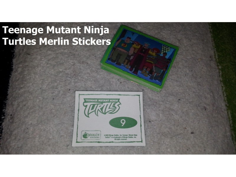 Slicice - TMNT Merlin Stickers 48kom - TOP PONUDA