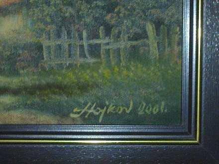 Slika Save Stojkova ulje na platnu