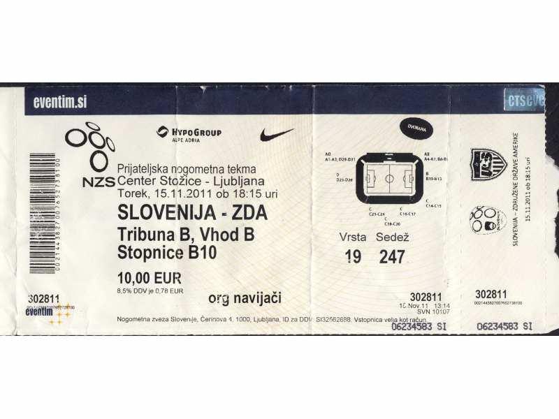 Slovenija - USA   ,   2011.god.