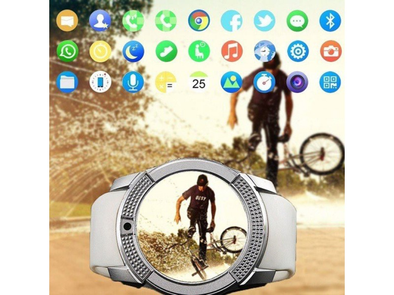 Smart Watch With Camera, Bluetooth Sports,Touch Screen