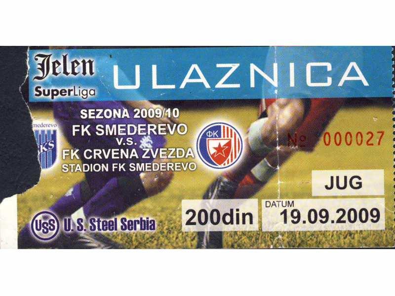 Smederevo - Crvena Zvezda   ,   2009.god.