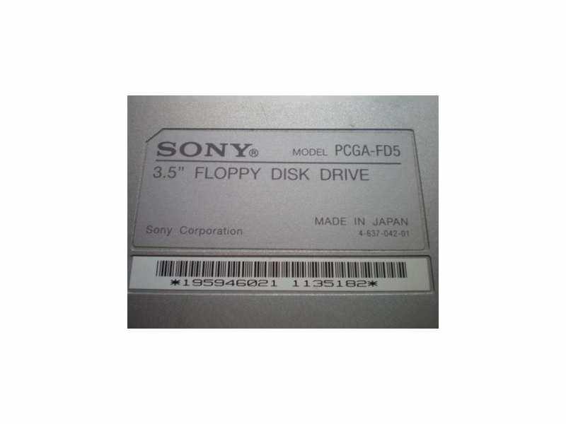 Sony Vaio External Floppy Disk Drive PCGA-FD5