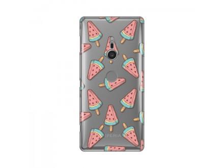 Sony Xperia XZ2 - SILIKONSKA MASKA ULTRA TANKA PRINT Choose Watermelon Ice Cream