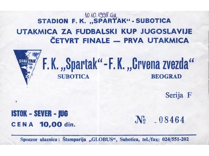 Spartak - Crvena Zvezda , 1998.god.