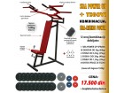 Sprava za vežbanje (SBA) + tegovi 104kg
