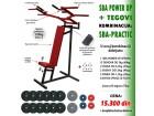 Sprava za vežbanje (SBA) + tegovi 74kg