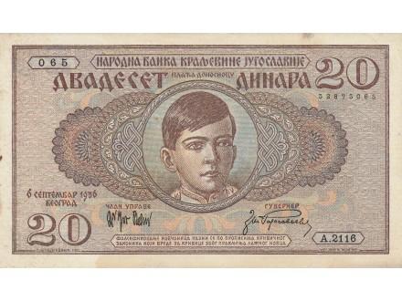 Srbija 20 dinara 1936