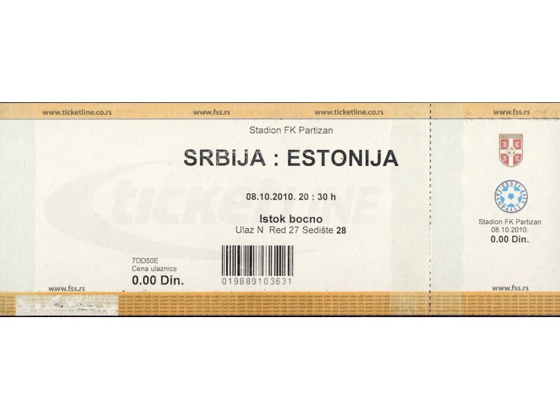 Srbija - Estonija , 2010.god.