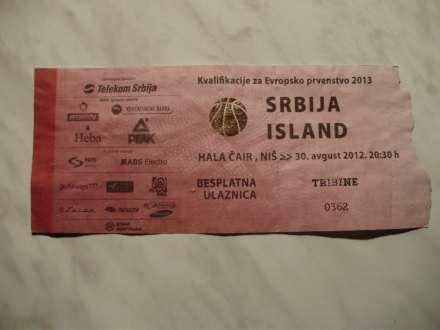 Srbija - Island 30.08.2012. kosarka