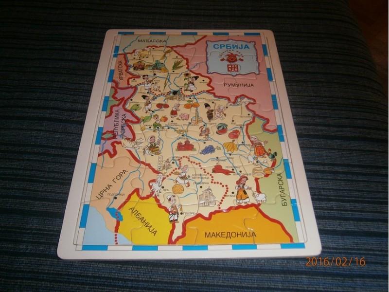 Srbija - Puzzle drveni