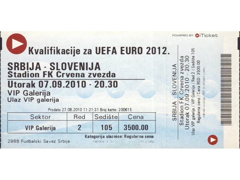 Srbija - Slovenija , 2010.god.