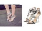 Srebrne sandale 40/41