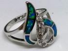 Srebrni prsten,OPAL,prirodan poludragi kamen,NOV