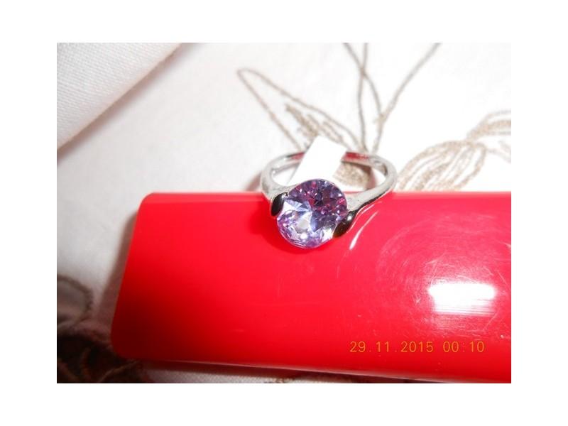 Srebrni prsten - ametist
