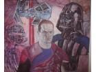 Star Wars, Darth Vader, Starkiller,Tempera na platnu