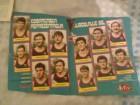 Stari poster kosarkaske reprezentacije Jugoslavije 1985