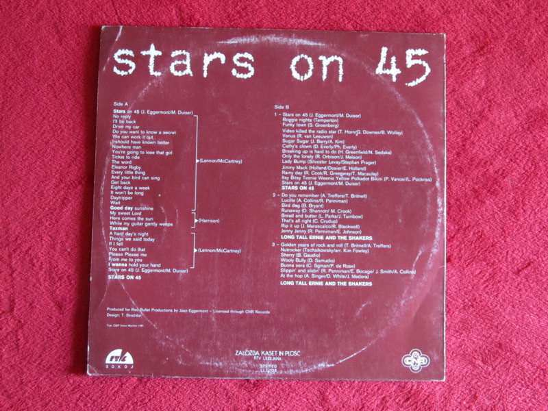 Stars On 45, Long Tall Ernie And The Shakers - Long Play Album