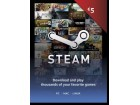Steam Wallet Kartica - 5 € (EUR)
