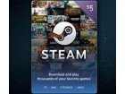 Steam Wallet Kartica - 5 $ (USD)