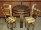 Sto i stolice od drvenog bureta-22000 din