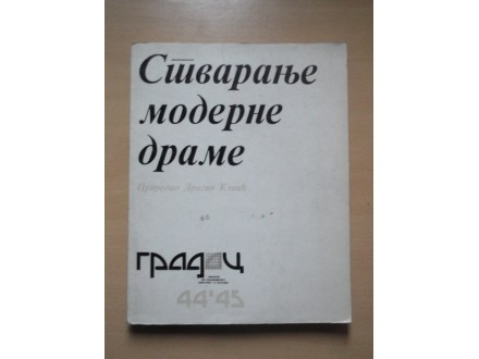 Stvaranje moderne drame priredio Dragan Klaic