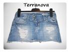 Suknja teksas iscepana Terranova