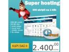 Super hosting 5000 MB protok/500 MB disk/300 skripti