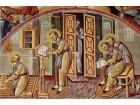 Sv Jovan Zlatousti zapisuje dok mu ap.Pavle govori