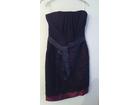Svečana crna-bordo haljina David Dixon
