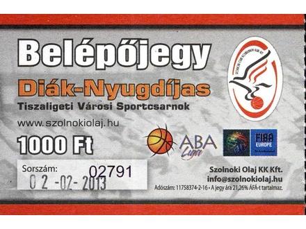 Szolnoki Olaj KK - KK Crvena Zvezda , 2013.g