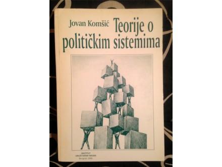 TEORIJE O POLITIČKIM SISTEMIMA Jovan Komšić