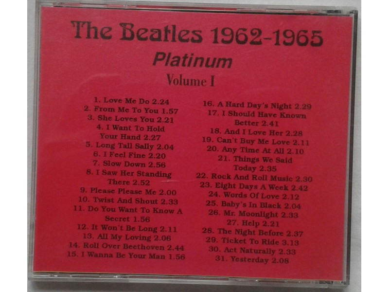 THE BEATLES - PLATINUM VOLUME 1