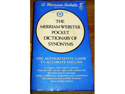 THE MERRIAM-WEBSTER POCKET DICTIONARY OF SYNONYMS