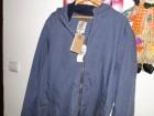 TIMBERLAND tanka jakna sivo plave boje, nova, XL