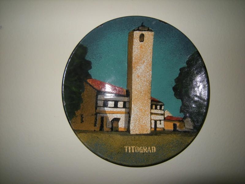 TITOGRAD / ZIDNI UKRASNI TANJIR