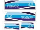 TOMOS 4.5 - Nalepnice za vanbrodski motor